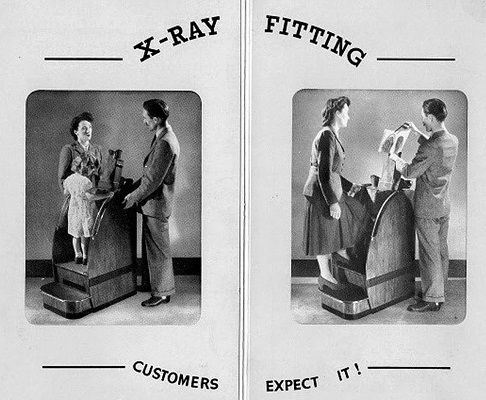 x-ray shoe fitting